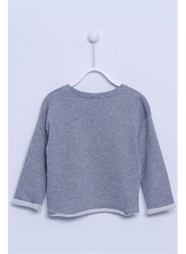 Silversun Kids Baskılı Örme Sweatshirt Js 210774 Gri